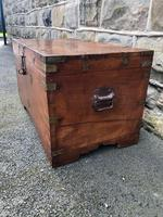 Antique Anglo Indian Brass Bound Trunk (4 of 11)