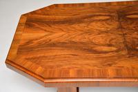 1920's Art Deco Figured Walnut Dining Table (9 of 10)