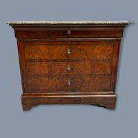 French Marble Top Commode with Writing Surface (4 of 9)