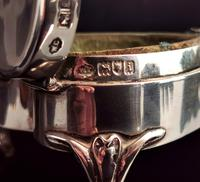 Antique Heart Shaped Silver Jewellery Box, Art Nouveau, William Comyns (12 of 15)