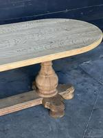 Large French Bleached Oak Monastery Dining Table (6 of 18)
