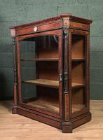 Superb ebonized and amboyna glazed pier cabinet (6 of 8)