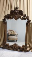 Large Carved Oak Mirror