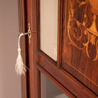 Inlaid Rosewood Music Display Cabinet (12 of 15)
