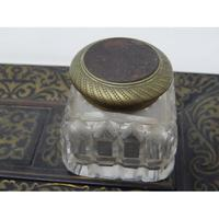 19th Century Brass Inlaid Twin Inkwell Stand c.1850 (4 of 7)