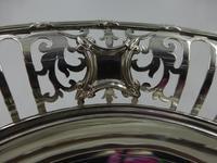 Antique Pierced Silver Dish Sheffield 1917 (4 of 7)