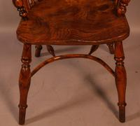 Yew Wood low Windsor Chair Rockley Maker (2 of 10)