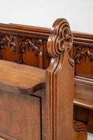 Pair of Victorian Carved Oak Pews (8 of 11)