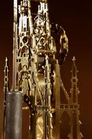 Scottish Interest Historically Interesting Sir Walter Scott Skeleton Clock. (13 of 14)