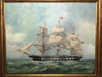 "Marine Oil Painting ""Windsor Castle"" Mail Steamer Ship Signed Dorothy Lightfoot (4 of 31)"