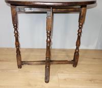 Folding Oak Victorian Table (2 of 6)