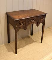 Early 19th Century Carved Oak Lowboy (5 of 11)