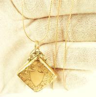 Hallmarked Rose Gold Edwardian Locket (2 of 8)