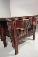 19th Century Chinese Alter Table with Elaborately Carved Facade (3 of 7)