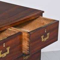 Antique George III Mahogany Military Chest (4 of 9)