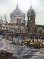 Large Oil on Board The Thames Listed Artist Sheila Appleton (5 of 12)