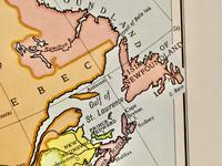 """Large University Chart """"Physical Map of North America"""" by Bacon (3 of 5)"""