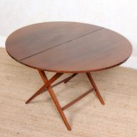 Walnut Folding Coaching Card Table (4 of 11)