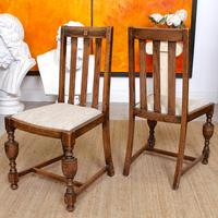 Oak Gateleg Dining Table & 4 Chairs Arts Crafts (6 of 17)