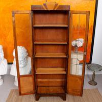 Art Deco Oak Glazed Bookcase (5 of 11)