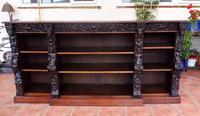 Oak Edwards & Roberts Breakfront Bookcase 7ft 6 Length 4 Drawer (15 of 15)