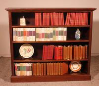 Mahogany Open Bookcase - England c.1900 (2 of 11)
