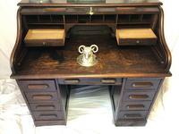 Original Edwardian Globe Wernicke Oak Roll Top Desk (3 of 13)