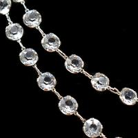 """Art Deco French Paste Long Silver Guard Chain Necklace 38"""" Antique (3 of 9)"""