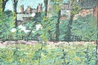 Early 20th Century British School A Town Garden Oil on Board (6 of 9)