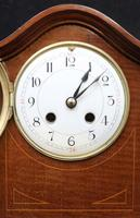 French Belle Epoque Mahogany Inlaid Mantel Clock (2 of 7)