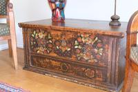 19th Century Austrian Folk Art Painted Pine Coffer (3 of 23)