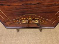 Inlaid Rosewood Table by James Shoolbred (9 of 11)