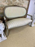 French Gilt Painted Two Seater Settee (7 of 8)