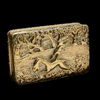 Georgian Solid Silver Gilt Snuff Box With Spectacular Fox Hunting Scene - Edward Smith 1832 (19 of 22)