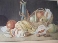 Dorothy Cottam Watercolour Still-life with Art Nouveau Jug (2 of 5)