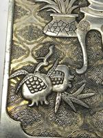 Antique Chinese Solid Silver Zu Yin Hallmarked Scroll Weight Plaques Guangxu (9 of 24)