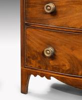 Most Attractive George III Period Mahogany Bow Front Chest of Drawers (6 of 6)