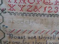 1856 Antique Needlework Sampler Emma Pattrick (4 of 8)