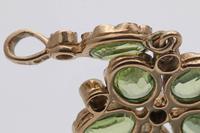 20th Century Gold Peridot & Diamond  Pendant (2 of 4)