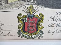 S & N Buck, Tiverton Castle, Devon, 1734, Early Copy Of Antique Print, Framed (4 of 7)