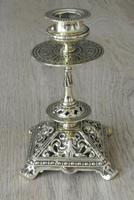 Pair of Victorian William Tonks Brass Candlesticks Register Diamond Mark '1882 WT&S' (4 of 9)