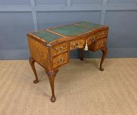 Good Queen Anne Style Burr Walnut Writing Desk (6 of 18)