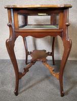 Edwardian Mahogany Bijouterie Table / Display Table (6 of 10)