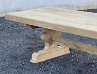 Huge French Bleached Oak Farmhouse Dining Table (32 of 34)