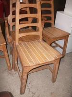 Set of 4 Country Style Ladder Back Chairs (2 of 2)