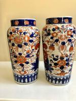 Stunning Pair Of Japanese Imari Vases, Meiji Period Antique (7 of 10)