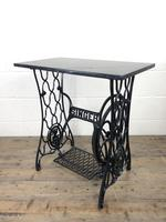Antique Singer Sewing Machine Table with Marble Top (7 of 8)