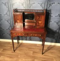 Edwardian Inlaid Rosewood Desk (12 of 23)