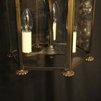 French Hexagonal Triple Light Hall Lantern (6 of 10)