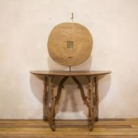 18th Century Ox Wheel Mounted on Stand (2 of 14)